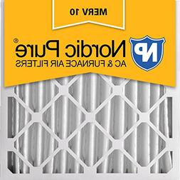 Nordic Pure 24x24x4 MERV 10 Pleated AC Furnace Air Filter,