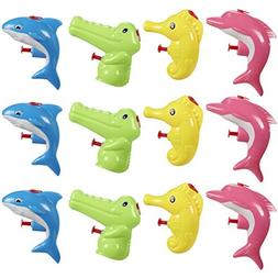 Mini Animal Squirt Guns - 12 Pack of Water Plastic Toys for