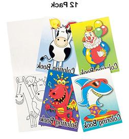 Mini Coloring Books For Kids - Pack Of 12 - 6 Pages Each 5 X