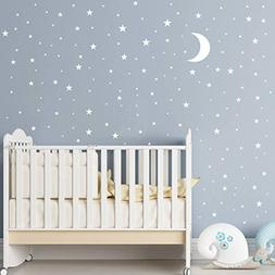 Moon and Stars Wall Decal Vinyl Sticker for Kids Boy Girls B