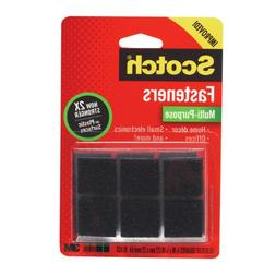 Scotch Multi-Purpose Fasteners, Black, 7/8 x 7/8 Inch, 12 Se