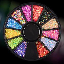 Nail Jewelry Wholesale Round Sequins Colorful Laser Sequins