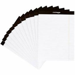 Note Pads 12 Pack Wide Ruled 81/2 X 11 Legal Letter White 50