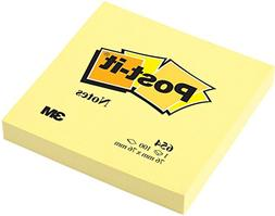 Post-it Notes 654-YW Original Notes- 3 x 3- Canary Yellow- 1