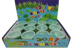 Pack of 12 Kids Frog Spawn Slime Silly Putty Goo Tactile Edu