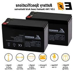 PACK OF 2 12 VOLT 7 AH BATTERY FOR MIGHTY MULE NP7-12 12V 7.