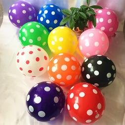 """PACKS OF 100 12""""/30cm POLKA DOT BALLOONS - FREE DELIVERY - S"""