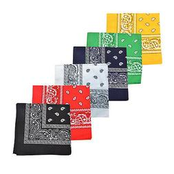 Mechaly Paisley 100% Polyester Unisex Bandanas - 12 Pack - D