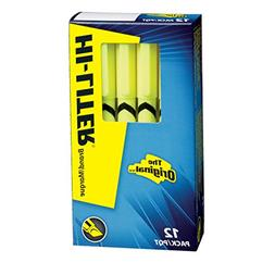 HI-LITER Pen Style, Chisel Tip, Fluorescent Yellow, Box of 1