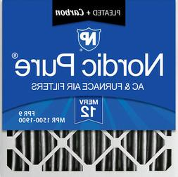 Nordic Pure 20x20x4  Pleated Air Filter MERV 12 Pleated + Ca