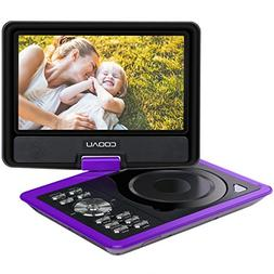 "COOAU 11.5"" Portable DVD Player with 5 Hour Rechargeable Bat"