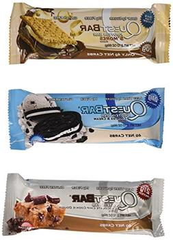 Quest Nutrition Protein Bar Variety Pack, Including S'mores,