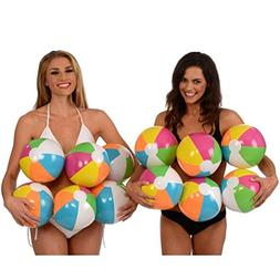 GBSELL New 12 inch Rainbow Beach Balls Inflatable 12pc Beach