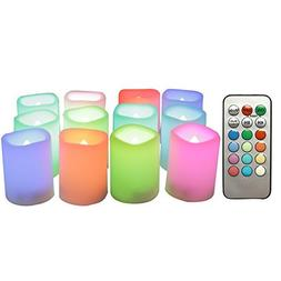 Candle Choice 12-Pack Realistic Color Changing Flameless Vot