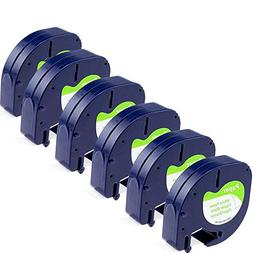 Replace Dymo Letratag Refills 91330 Label Tape 12mm 0.47 Inc