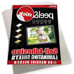 Huntz Self-Adhesive Laminating Sheets, Clear Letter Size , P