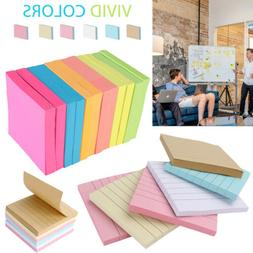Self Sticky Notes Pop Up Memo Reminder Neon Assorted Colors