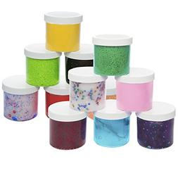 Slime Storage Jars 12oz  - Clear Containers for All Your Glu