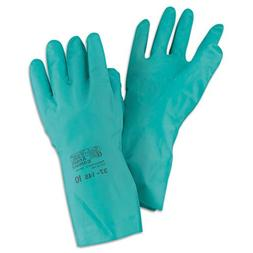 Sol-Vex Sandpatch-Grip Nitrile Gloves, Green, Size 9, 12 Pai