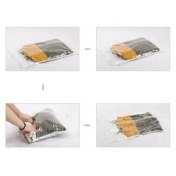 12 PACK Space Saver Travel Compress Roll-Up Storage Bags Sma