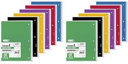 Mead Spiral Notebook, 1 Subject, 70 Wide Ruled Sheets, Assor