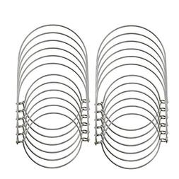 JoJa 12 Pack Stainless Steel Wire Handles  for Mason Jar, Ba