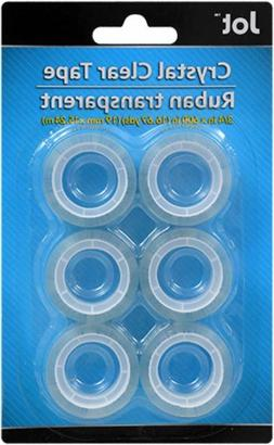 JOT Standard Size Crystal Clear Tape Roll Refills 6 ct Pack