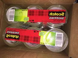 "Scotch Sure Start Shipping Tape, 1 7/8"" x 43.7 Yd, Pack of 3"