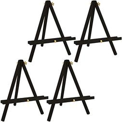 US Art Supply 12 inch Tall Tripod Easel-Pine Wood-Painted Bl