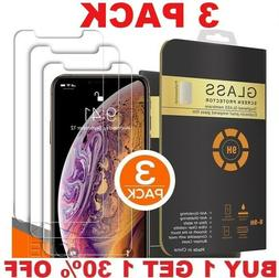 3 PACK For iPhone 13 12 11 Pro Max XR XS 8 Plus Tempered GLA
