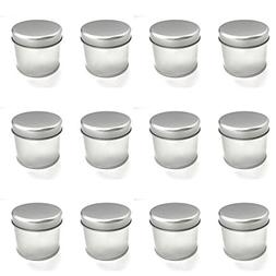"""Tin Cans, 12 Pack – Large  – 3"""" x 2.6"""" – For Cream"""