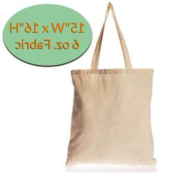 12 Pack Canvas Tote Bags - Plain Canvas Bags in Bulk - Blank