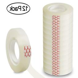 Heqishun Transparent Tape 1/2 inch Invisible Tape 12 Pack Cl