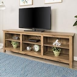 wide barnwood finish television stand