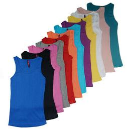 women s 12 pack ribbed tank tops